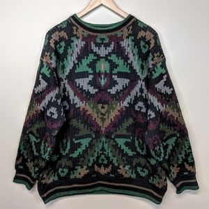 generra Sweaters - Generra Graphic Navajo Sweater